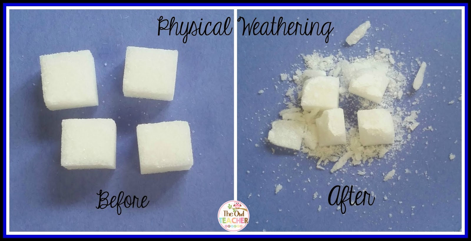 physical and chemical weathering experiments the owl teacher