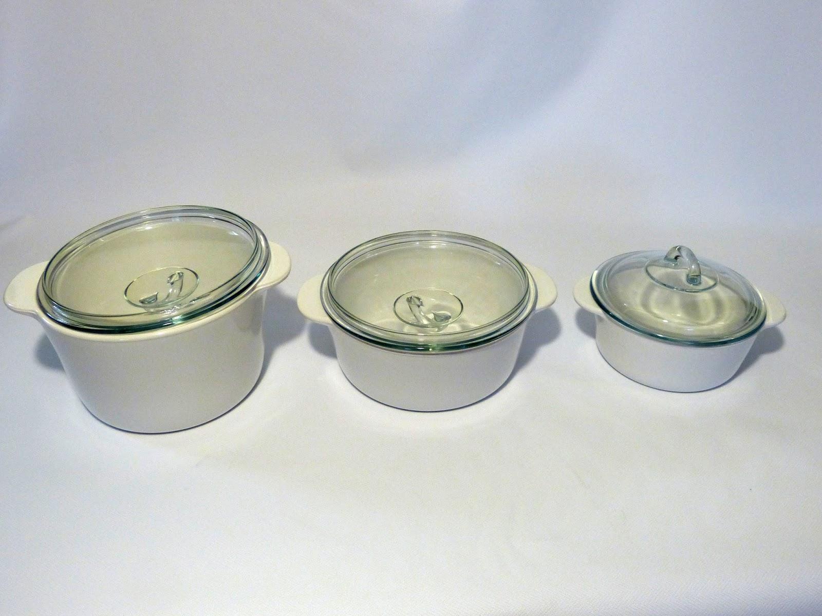 Cacerolas y cazos pyrex distintos tamaños