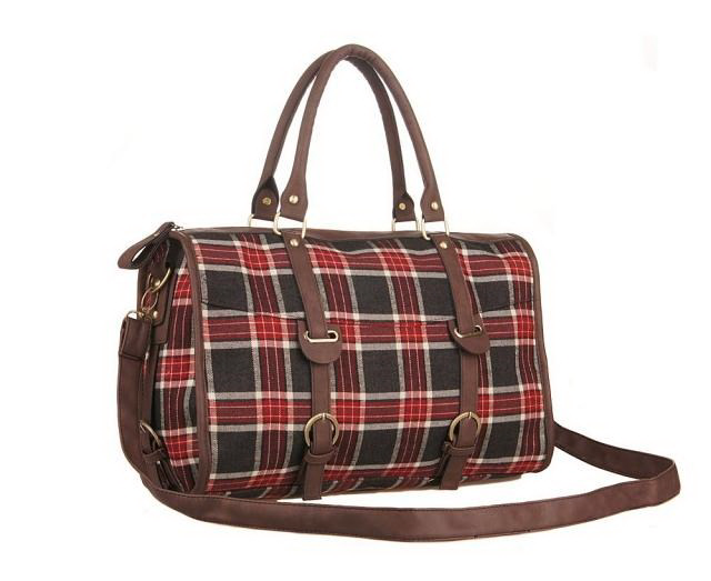 Plaid Pin Buckle Single Shoulder Bag