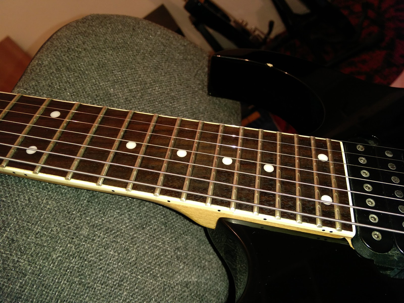 Ibanez Rg7321 Wiring Auto Electrical Diagram Hge Contraptions Rg 7321 Rewiring Reassembly Rust Removal Setup Green 7 String