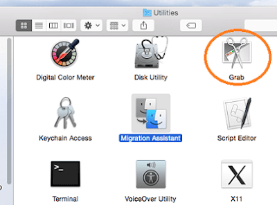 Grab Utilities to take a Screenshot (Print Screen) on Mac