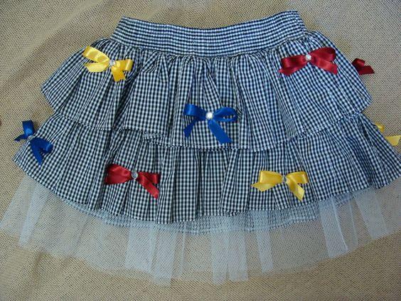 modelos de roupas juninas para crianças