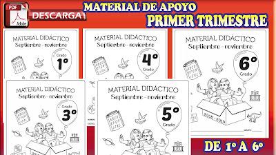 Material de apoyo Primer Trimestre para 1º primer grado 2018-2019