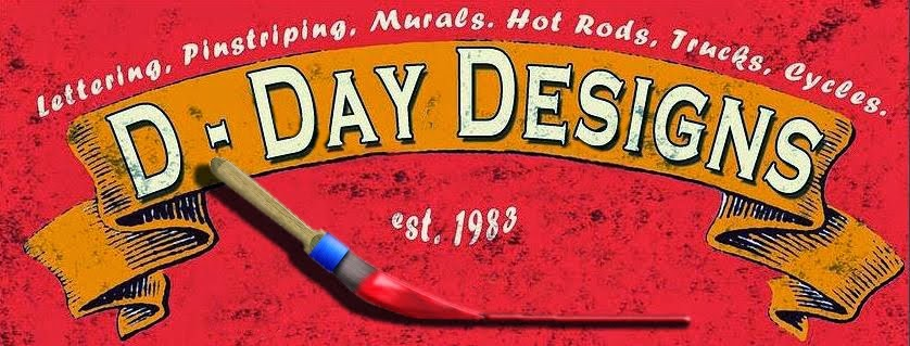 Dennis Day Designs - Lettering, Pinstriping; Murals