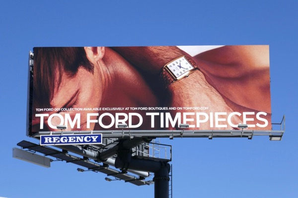 Tom Ford Timepieces Spring 2018 billboard