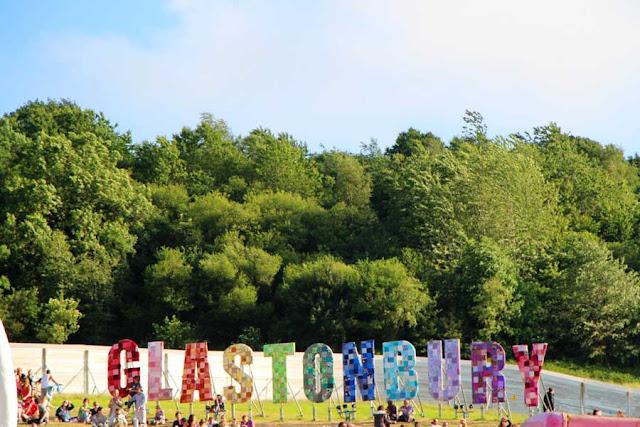 The Glastonbury sign looks over the whole festival area