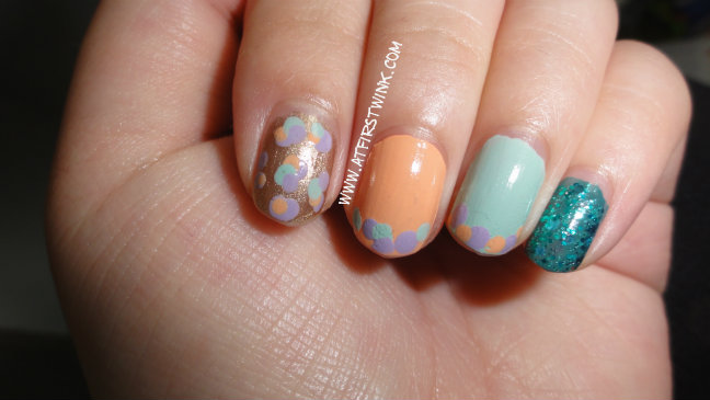 February Nails Pastel Dotted Nail Art