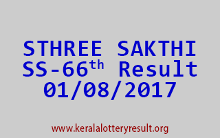 STHREE SAKTHI Lottery SS 66 Results 1-8-2017
