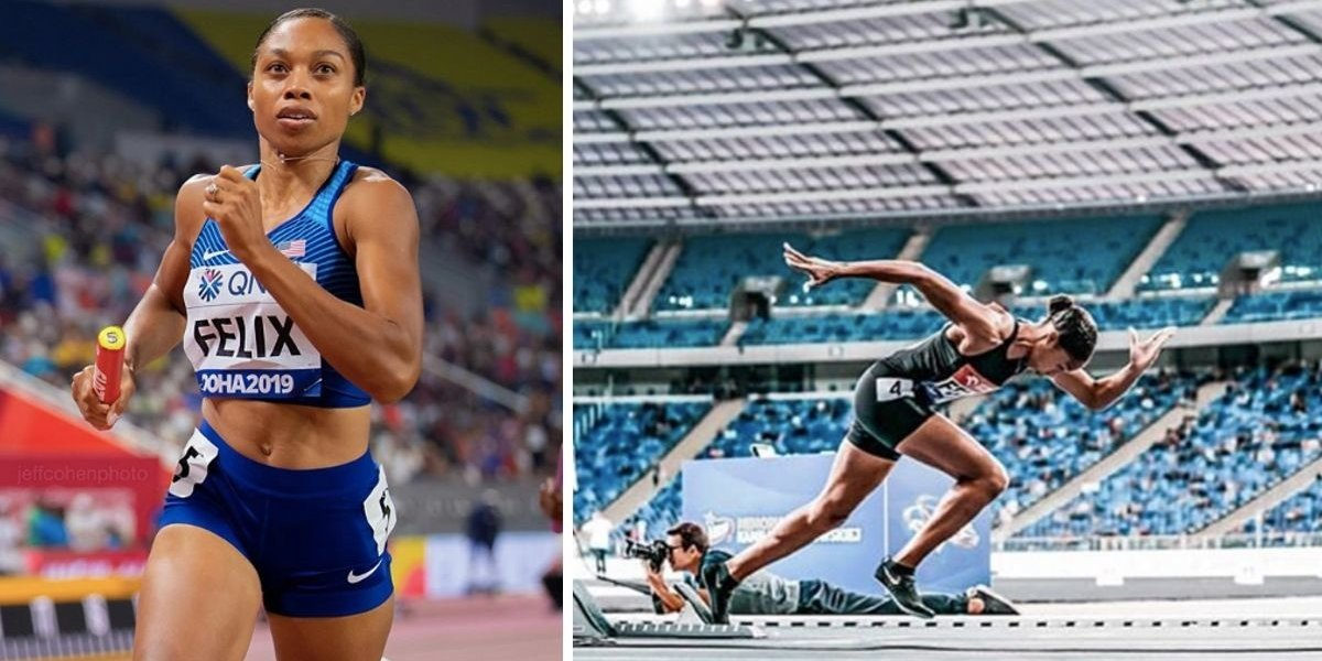 Allyson Felix Broke Usain Bolt's Record Only Ten Months After She Gave Birth