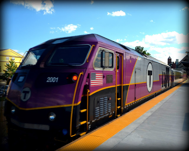 MBTA, Commuter Rail , Boston Bound, Salem Station, Massachusetts