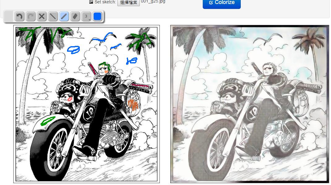 Image%2B004 - 《PaintsChainer》超狂的AI人工智慧幫你自動上色,黑白漫畫直接變全彩!