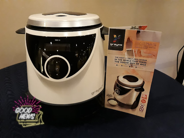 Grayns is the first and only rice cooker in the world that takes the SUGAR out of RICE!!!