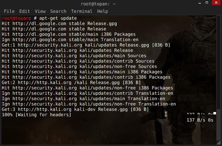 Cara Menambahkan Full Repository Kali Linux