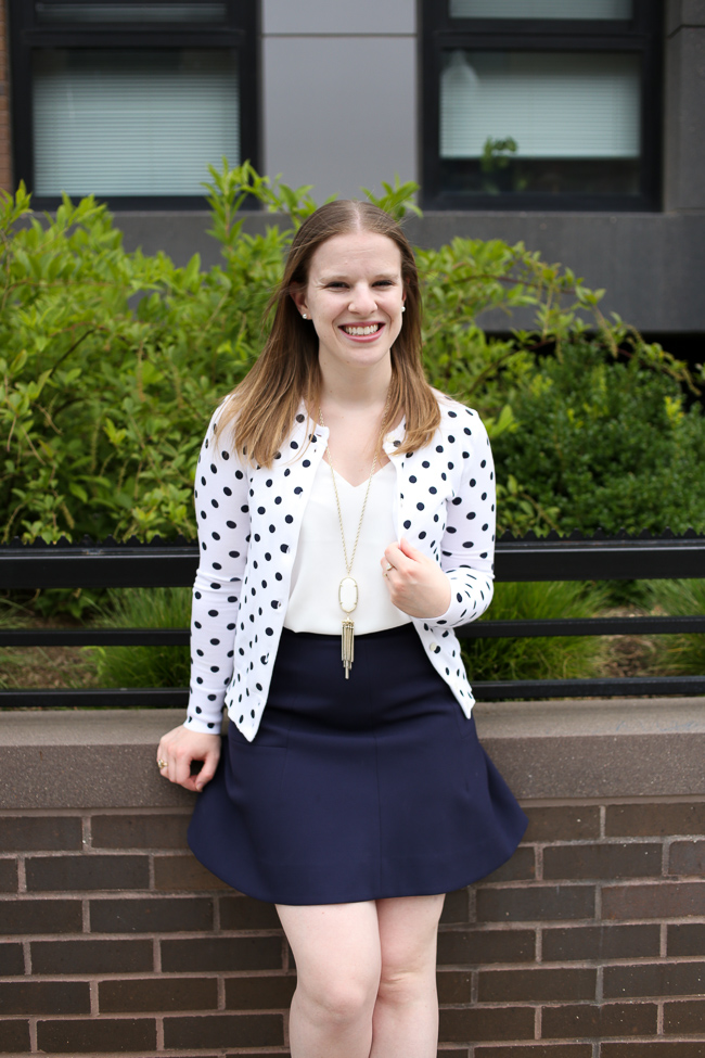 The Polka Dot Cardigan | Something Good, polka dot cardigan