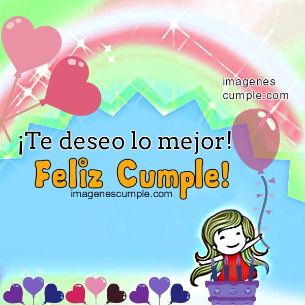 Bonita imagen de cumpleaños para hija, mujer, hermana, amiga, niña, con buenos deseos cristianos de cumple, felicidades, feliz cumpleaños por Mery Bracho