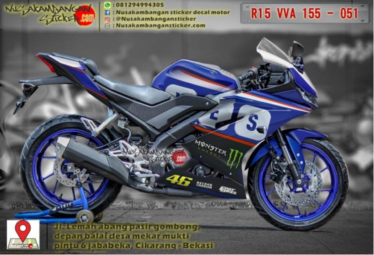 Yamaha R15 Club Indonesia Decal Sticker Yzf R15 V3