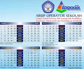Kalender Operator Sekolah (OPS) Terbaru