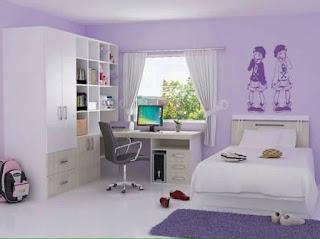 habitacion para jovenes violeta