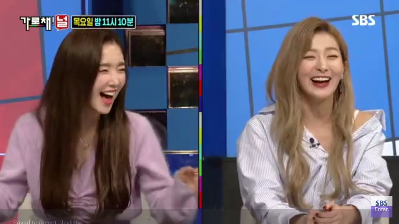 Red Velvet Irene and Seulgi - SBS We Will Channel You EP07