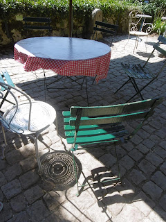 Terrasse ombre et lumière, château de Bridoire, malooka