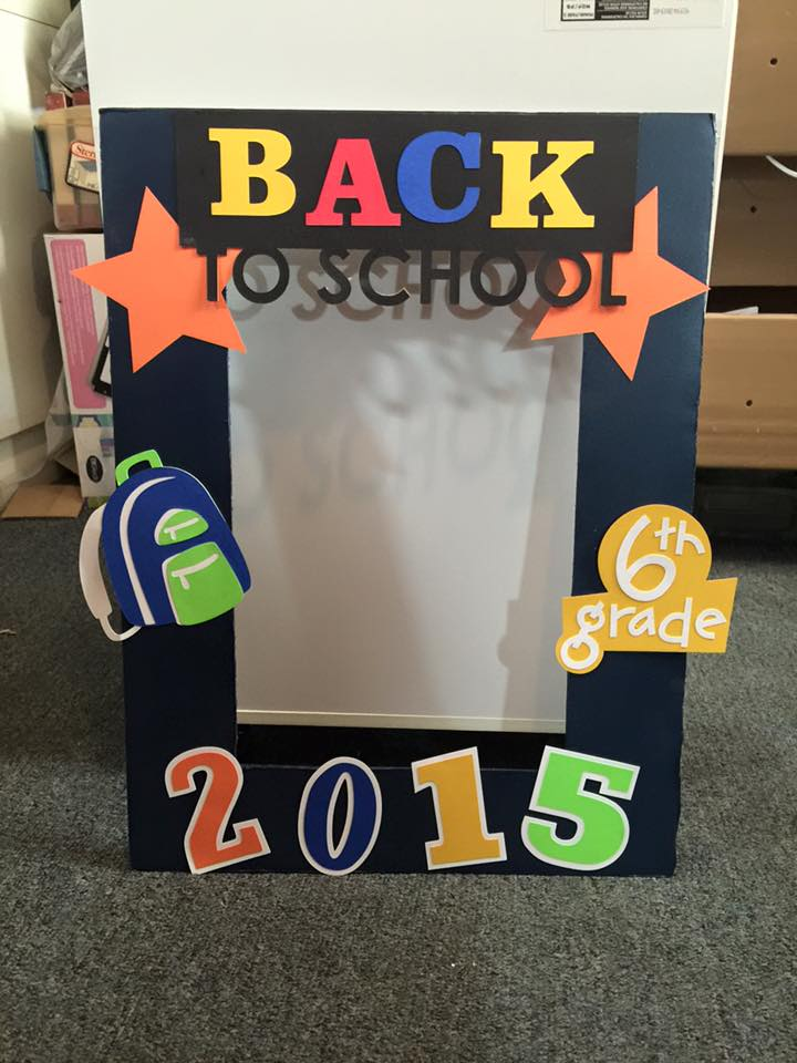 Kricut Kreations Back To School Photo Frame Prop