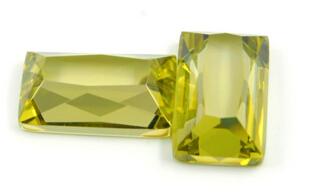 Rectangle-Shape-flat-back-faceted-princess-cut-CZ-Yellow-Colored-Gemstones-China-Supplier