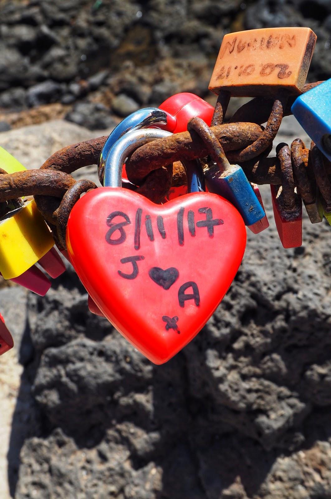 Love locks for travel lovers