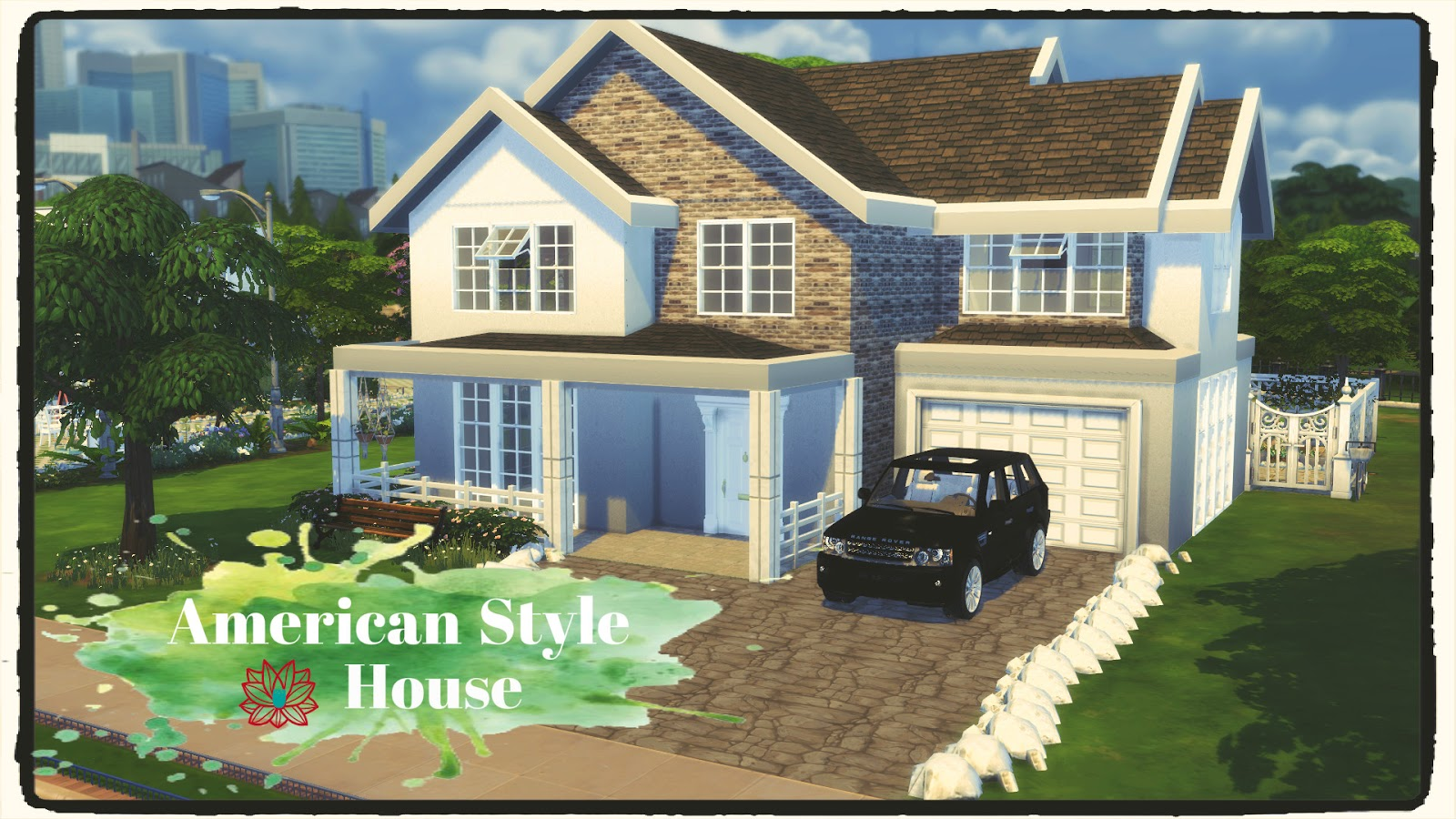 Sims 4 american style house build decoration dinha for Build a home