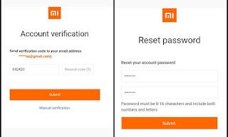 Reset password mi akun