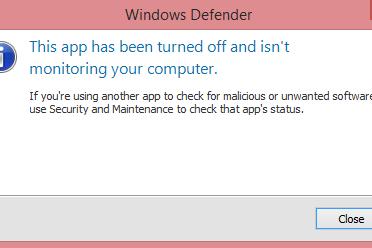 Cara Mengatasi Windos Defender This App Has Been Turned Off