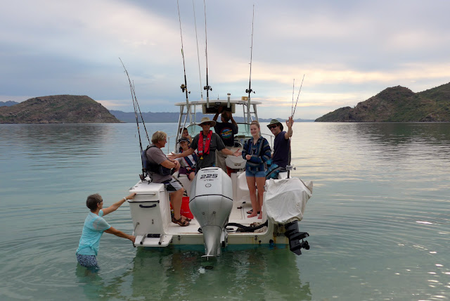 It is time to go fishing on the Sea of Cortez in the Bay of Conception. Leaving Coyote Beach