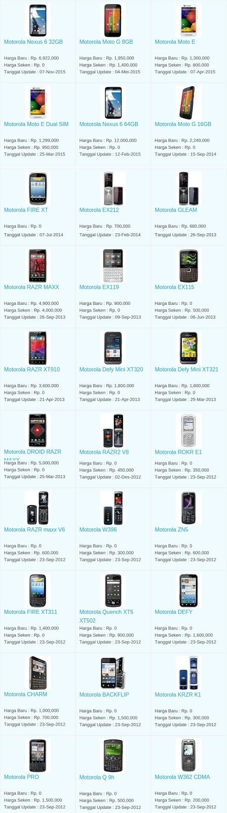 Daftar Harga Terbaru Hp Motorola Maret 2016