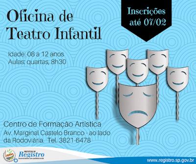 Secretaria Municipal de Cultura recebe inscrições para Oficinas de Música, Canto, Capoeira, Taiko e Teatro Infantil