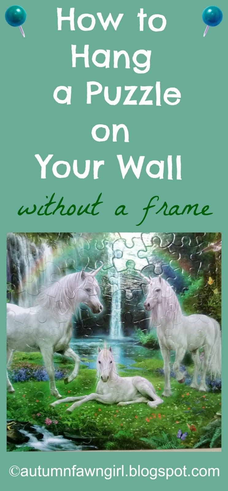 Brandi Raae How To Hang A Puzzle On Your Wall Without A