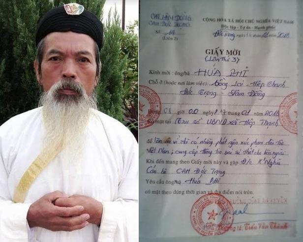 Công an mời Chánh trị sự Hứa Phi làm việc vì 'phát ngôn xúc phạm dân tộc Việt Nam'?
