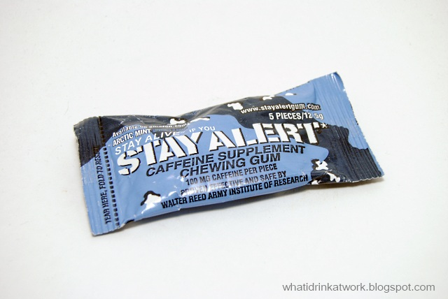What I Drink At Work: Stay Alert Arctic Mint Energy Gum Review