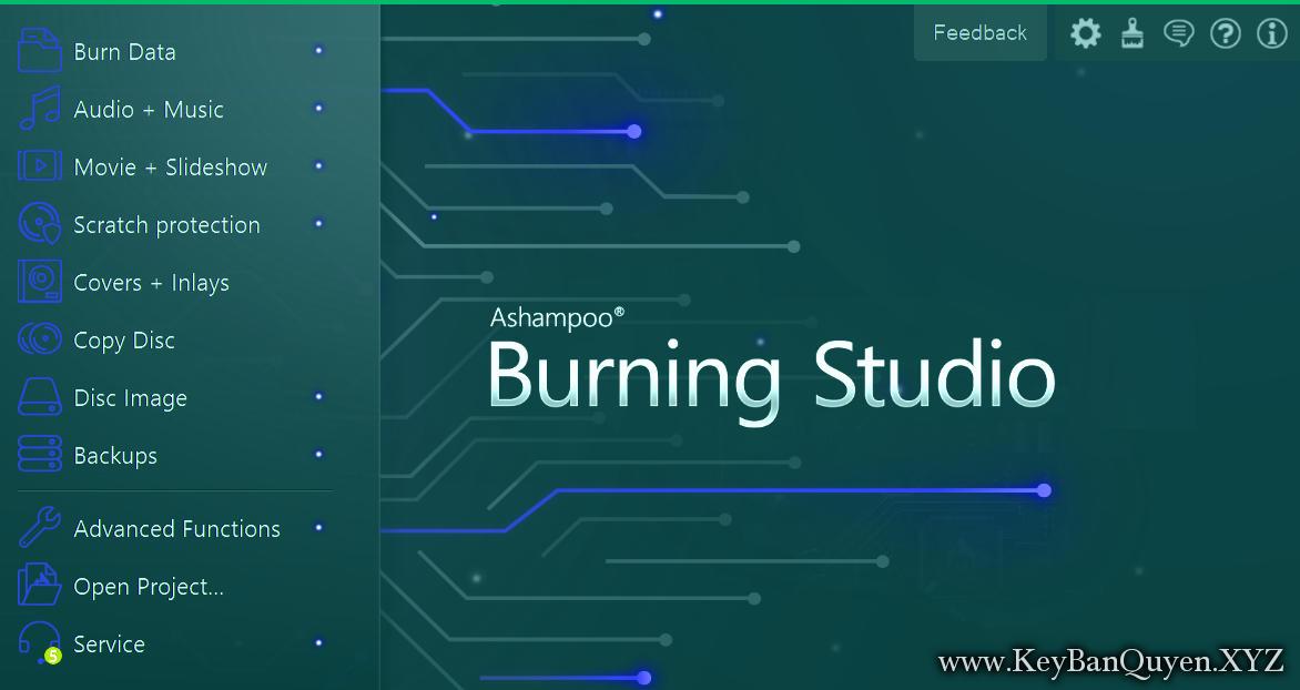 Ashampoo Burning Studio 20.0.0.33 Full Key , Phần mềm hỗ trợ ghi,sao chép và bảo vệ  CD, DVD - Blu-ray.