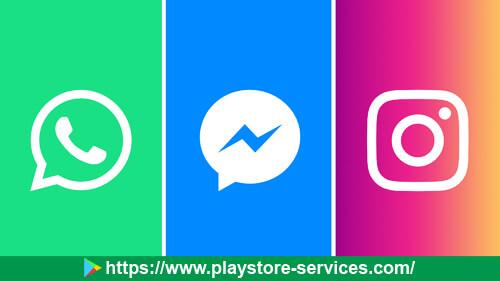 تطبيقات WhatsApp و Facebook و Instagram و Messenger