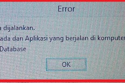 E-Faktur Error ETAX-10001 : Error Database. Database Tidak Bisa Dijalankan