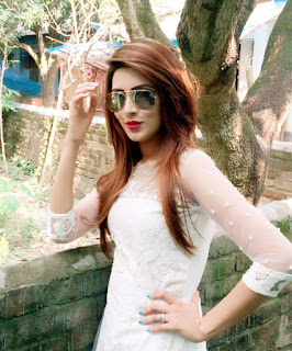 Bidya Sinha Saha Mim Model Stills Hot In White Dress