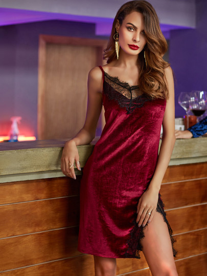 cheap velvet dress