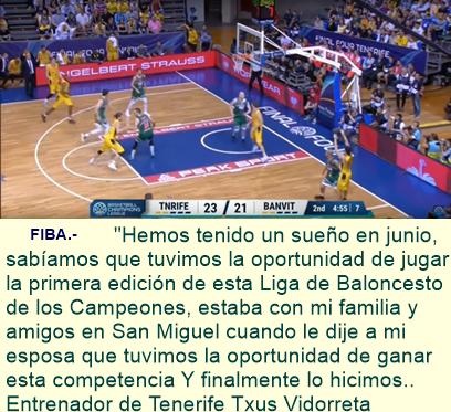 Iberostar Tenerife se coronó campeón inaugural de la Liga de Campeones del Baloncesto