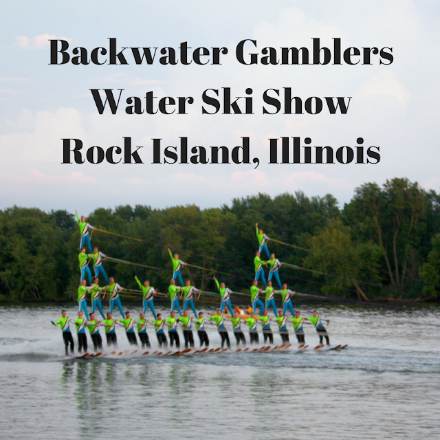 Backwater Gamblers Water Ski Show in Rock Island, Illinois