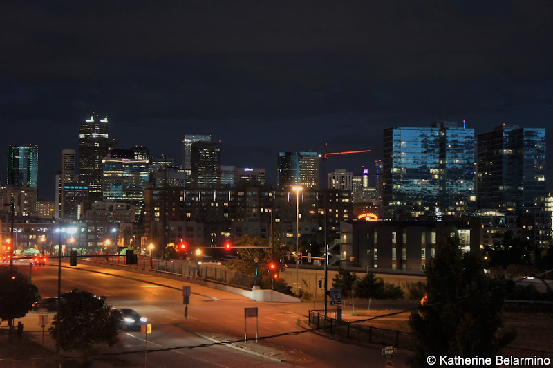 Downtown Denver Skyline from Avanti Food and Beverage Denver Restaurants