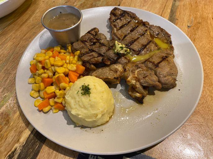 Porterhouse steak at Blake's Wings & Steaks
