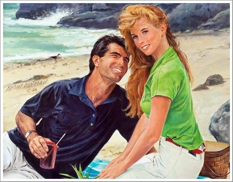 Cute Married Couple Hd Wallpapers Romantic Couple Paintings Mila Kunis