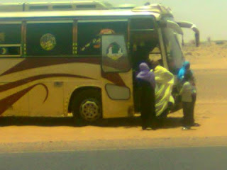حادث مروري في طريق شريان الشمال وسائق التاتشر يطلب 5الف جنية
