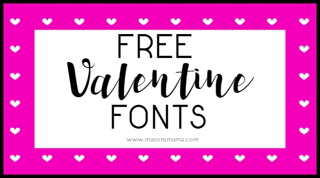 HALL AROUND TEXAS FREE VALENTINE'S DAY FONTS
