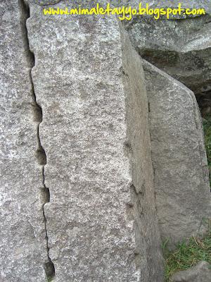 Detalle de roca en Machu Pichu, Perú