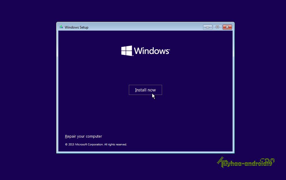 Install windows 10 kuyhaa